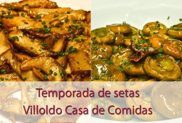 Temporada de setas en Restaurante Villoldo Madrid